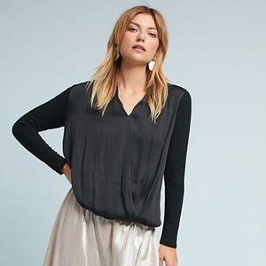 Anthropologie Dolan Left Coast Drape Front Blouse